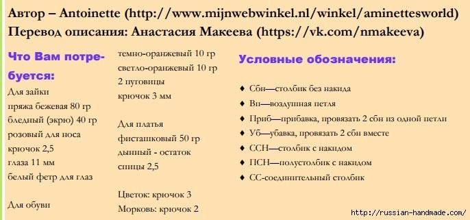 Вязаная крючком ЗАЙКА. Описание вязания (1) (686x321, 148Kb)