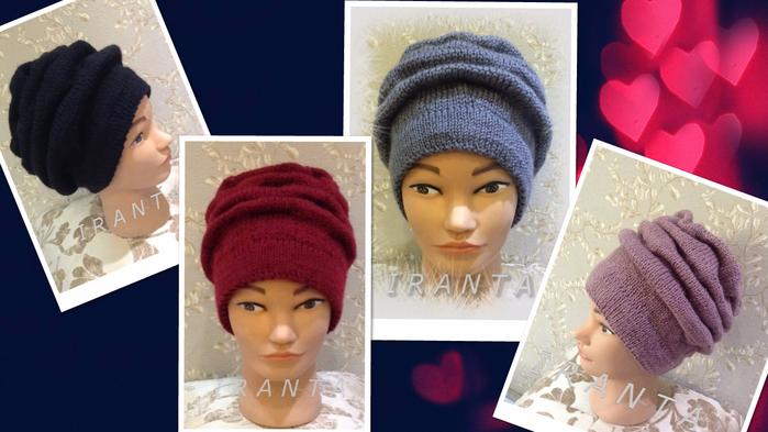 Вязание шапок клоке 68