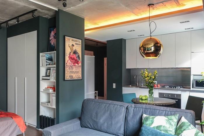 Дизайн и интерьер квартиры площадью 50 кв. метров в Московской области