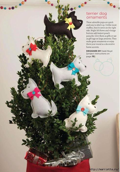 Собачки из фетра для Новогодней елки (1) (491x699, 187Kb)