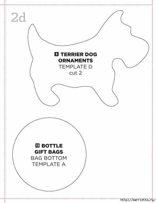 Собачки из фетра для Новогодней елки (3) (540x699, 99Kb)