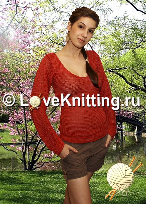 04 Автор Терракотовый пуловер VN2 (500x698, 479Kb)