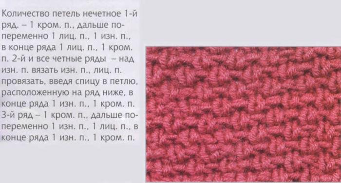 Схема вязания спицами букле схема