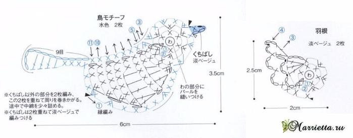 Декоративное панно с птичкой крючком (1) (700x274, 140Kb)