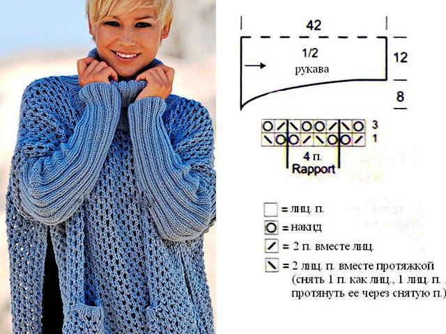 Вязаные кофты спицами - knit-modelscom