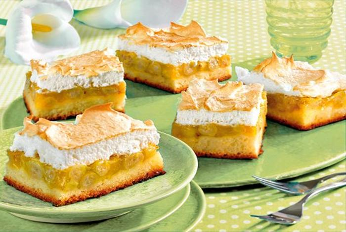 Торт Безе с яблоками