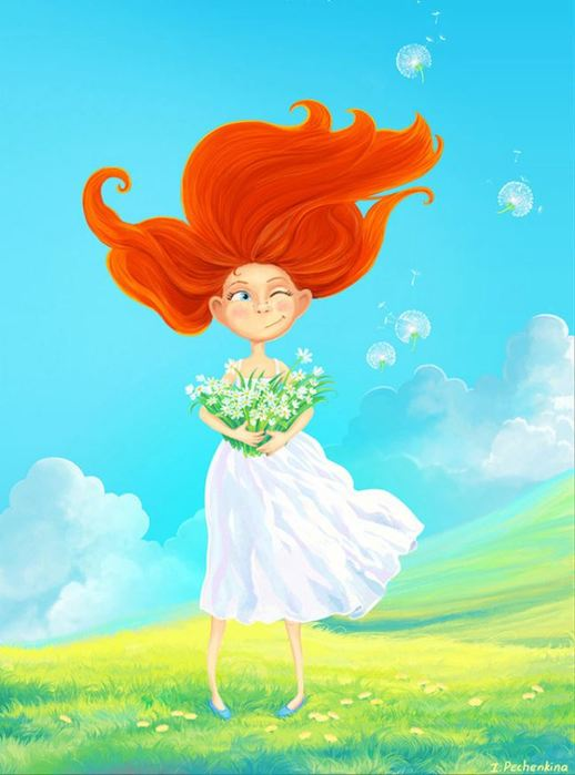 Рисунки рыжих девчонок