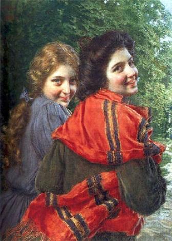 gaetano-bellei-deux-jeunes-filles-souriant (336x470, 76Kb)