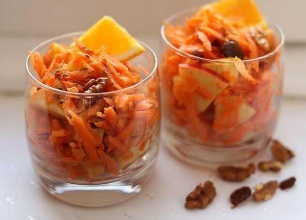Сладкий салат из моркови