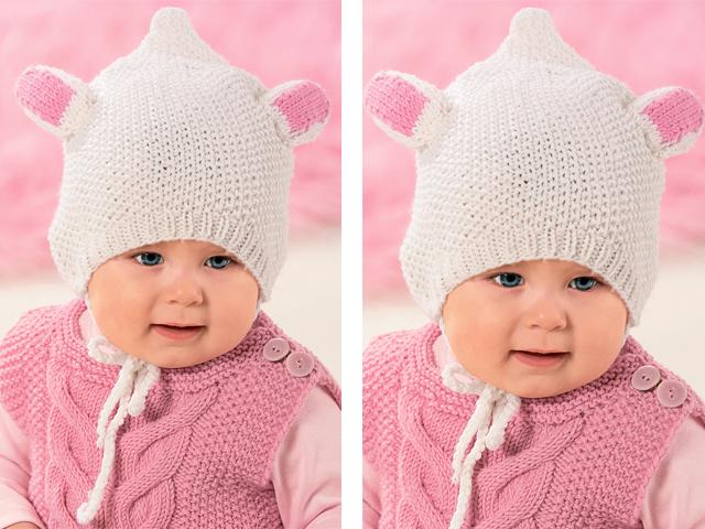 Вязание для новорожденных ушек на шапочках