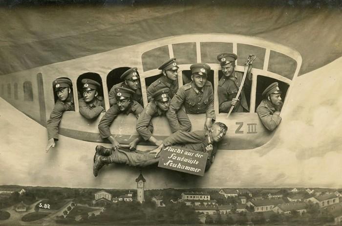 Ретро-фотографии «дембелей» первой половины XX века