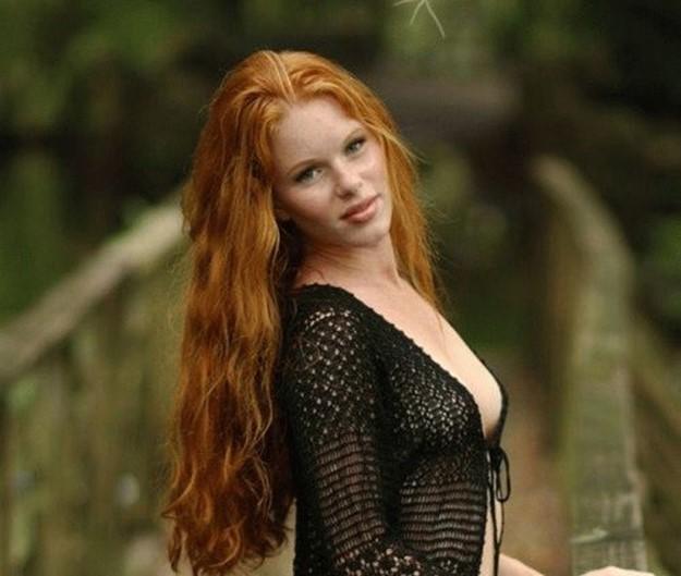 Золотые волосы   Фото девушек с рыжими волосами