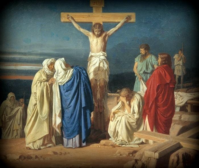Evgraf_Semenovich_Sorokin_-_Crucifixion - 1 (700x590, 173Kb)