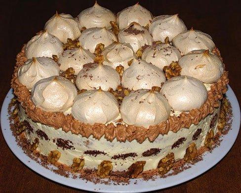 торт графские развалины рецепт с безе с фото