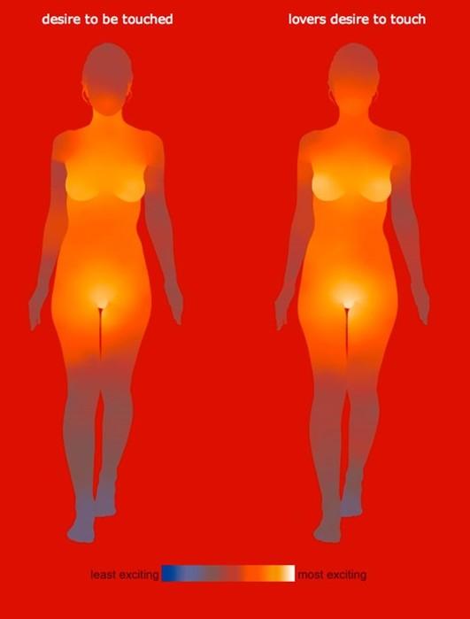 Горячая карта желаний! Рейтинг мест на теле мужчин и женщин, к которым хочется прикоснуться