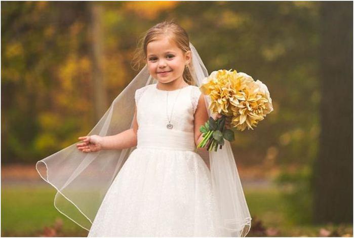 Свадебная фотосессия 5 летней малышки – подарок матери перед опасной операцией