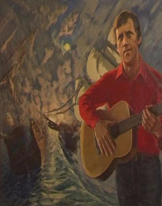 Терентьев Евгений Александрович (1929 - 1997) - Еще не вечер. (Портрет В. Высоцкого) (550x700, 324Kb)