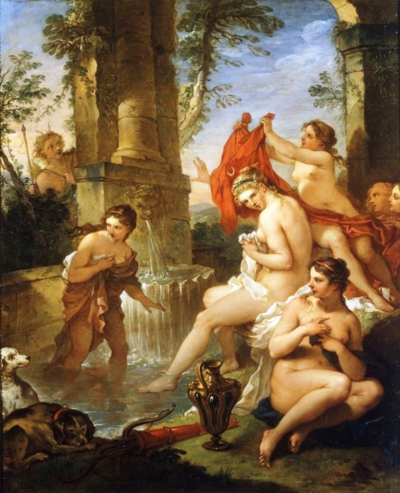 Диана и Актеон Charles-Joseph Natoire - 1734 (569x700, 485Kb)