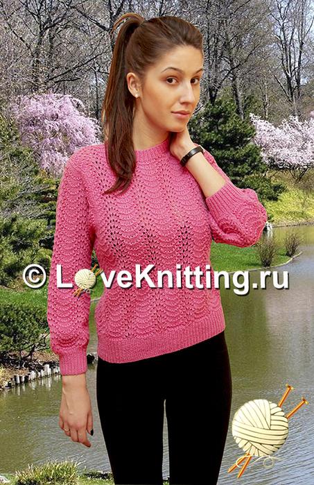 05 Ажурный пуловер МТ2 (453x700, 414Kb)
