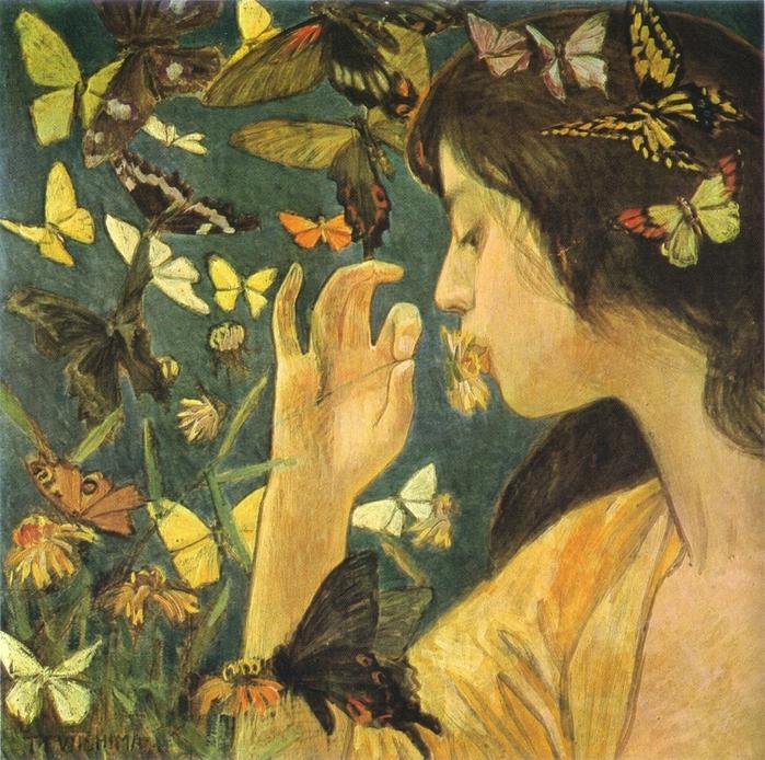 """alt=""""Fujishima Takeji.""""/2835299_Fujishima_Takeji__Butterfly (700x694, 441Kb)"""