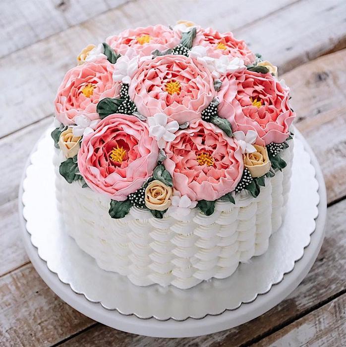 Открытки с днем рождения женщине торты 35