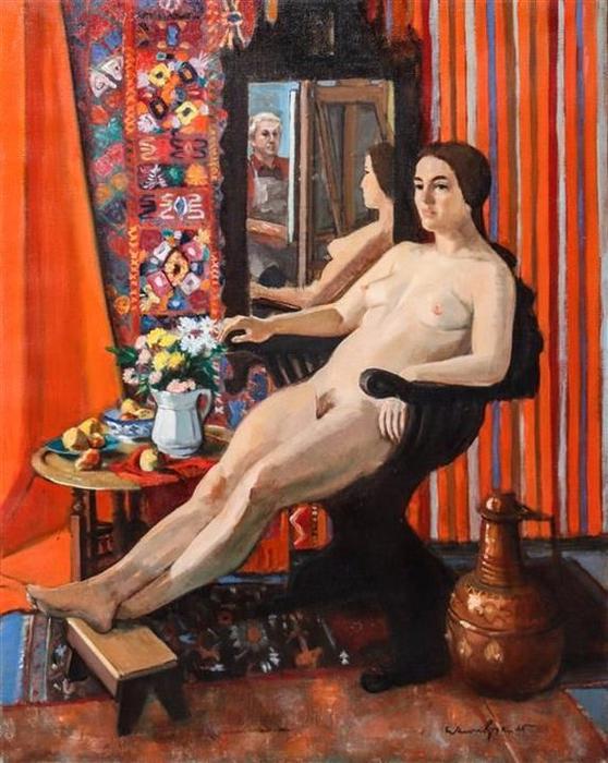 Warren Brandt (1918  -2002) -  Artist and Model (1973) (558x700, 438Kb)