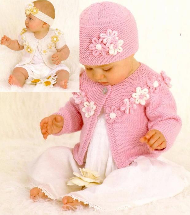 Вязание спицами для малышки до года 25