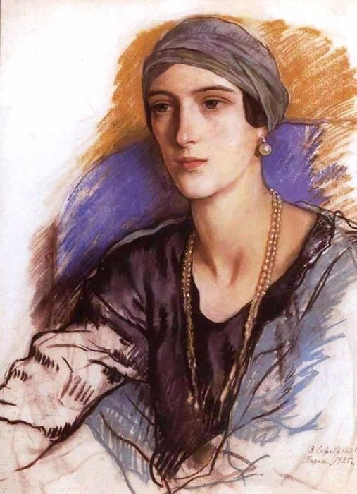 Зинаида Серебрякова, Княгиня Ирина Юсупова, 1925 (507x700, 343Kb)
