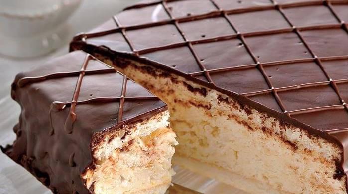 Быстрый торт «Птичье молоко»