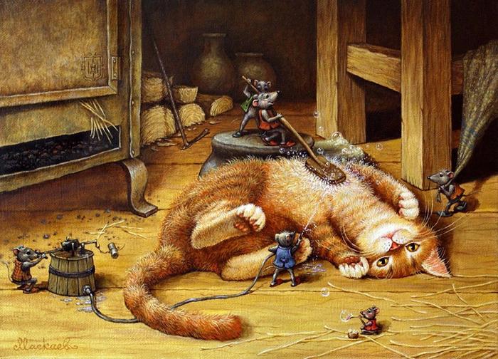 cattales04.jpg Купание красного кота (700x504, 483Kb)