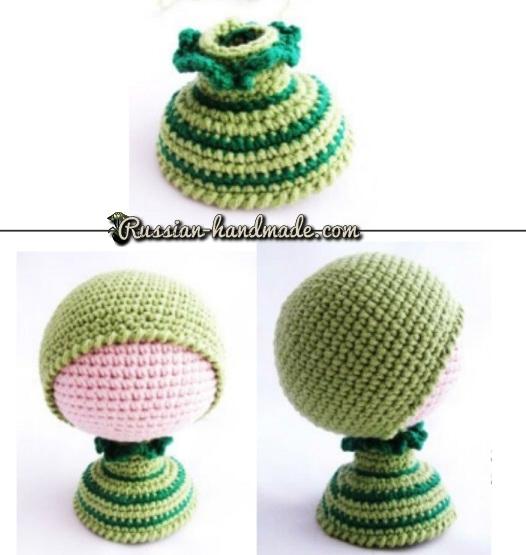 Вязание амигуруми. Куколка Лягушка (6) (526x555, 164Kb)