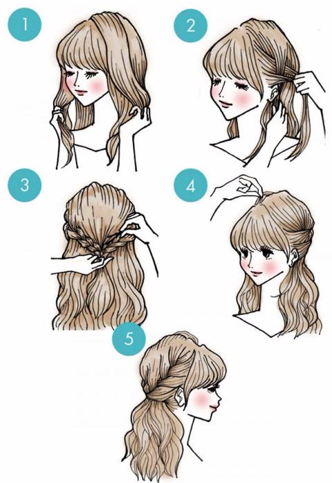 6. С длинными волосами можно создавать невероятно красивые прически! (480x700, 240Kb)