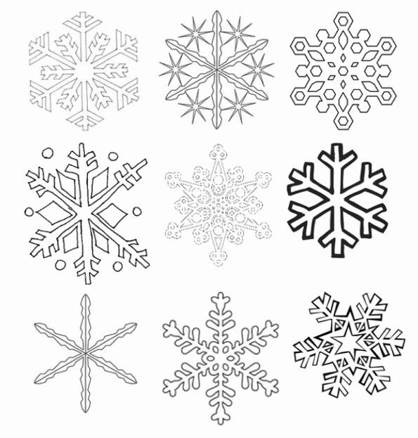Снежинки вытынанки на окна шаблоны распечатать