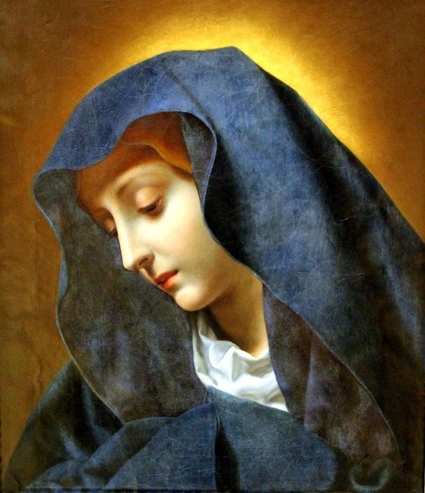 Скорбящая Дева Мария - м (700x811, 160Kb)