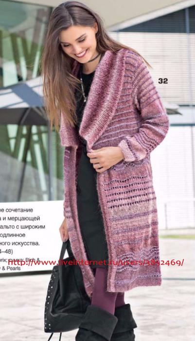 Пальто с сочетанием узоров 2 (401x700, 282Kb)
