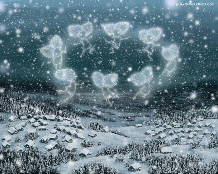 снежные феи (700x559, 457Kb)