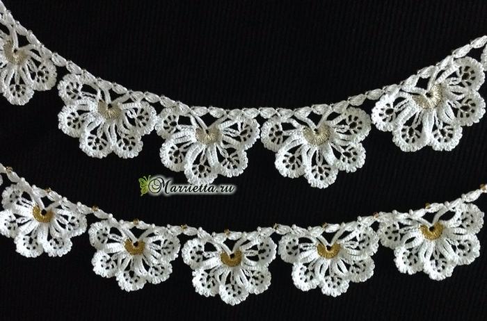 Сережки и ожерелье крючком. Схемы вязания (1) (700x462, 318Kb)