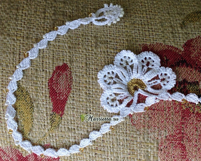 Сережки и ожерелье крючком. Схемы вязания (7) (700x560, 603Kb)
