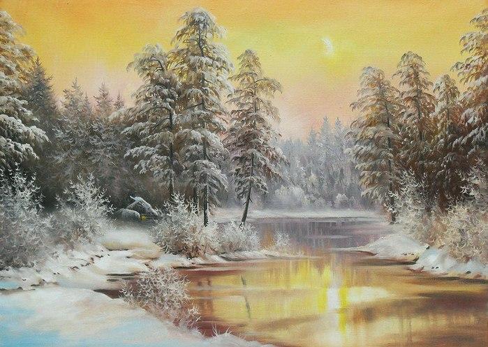 декабрь худож Ю.Корников  (700x497, 107Kb)
