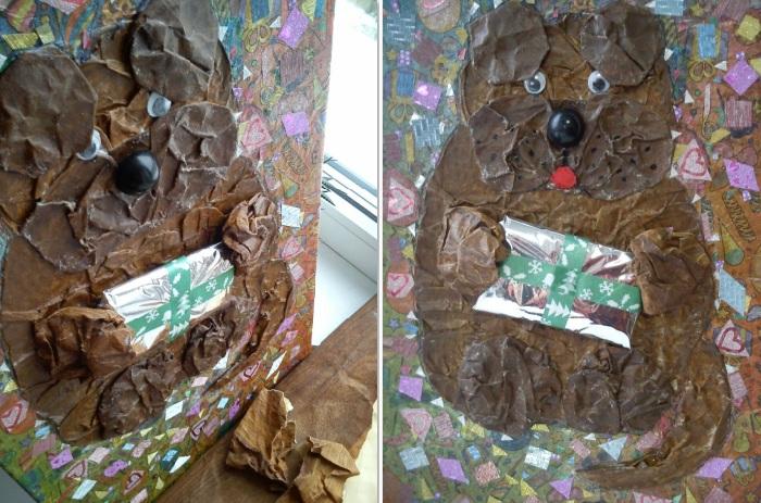 собака из мятой бумаги конструирование объемной фигурки (700x463, 158Kb)