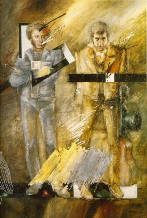 Дробицкий Эдуард Николаевич - Два гения (471x700, 352Kb)