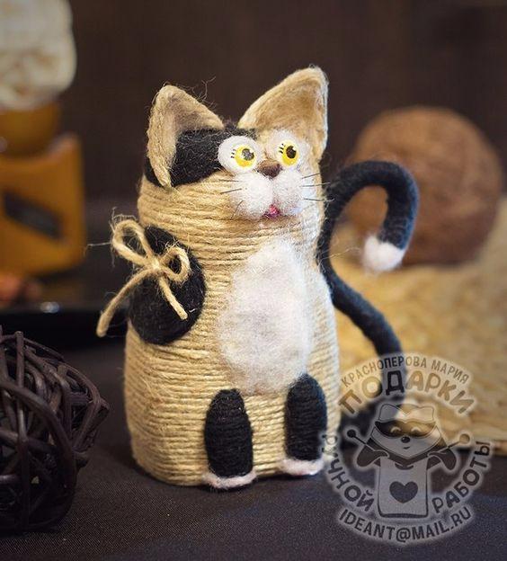 Кошка из джута 87