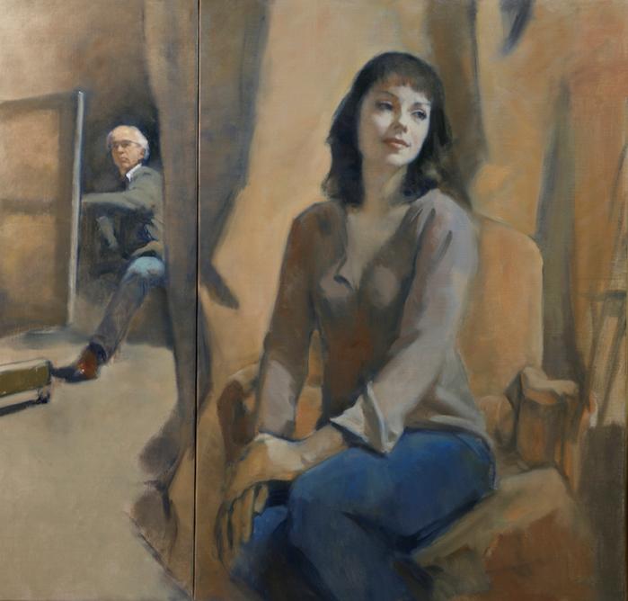Antoine Vincent - Le peintre et son modèle (700x668, 479Kb)