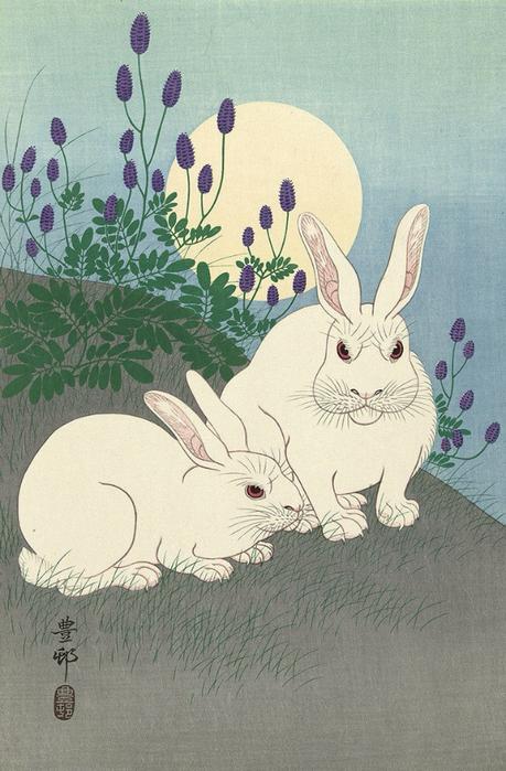 ++Rabbit at Full Moon (459x700, 353Kb)