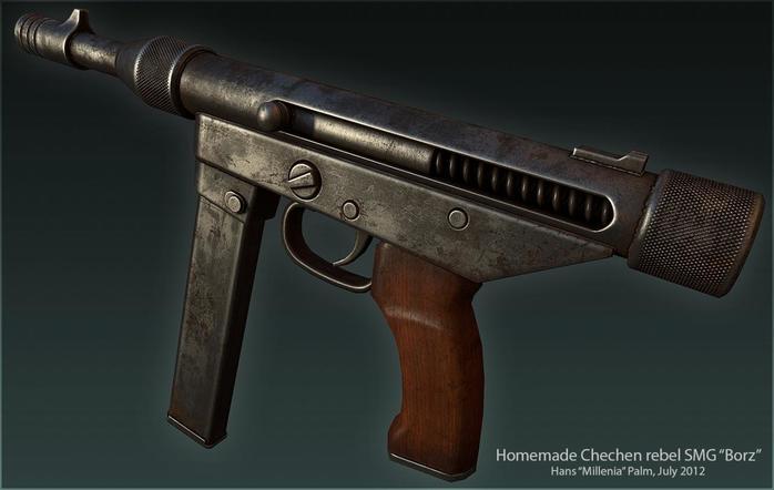 Пистолет пулемет «Борз»— настоящий чеченский автомат
