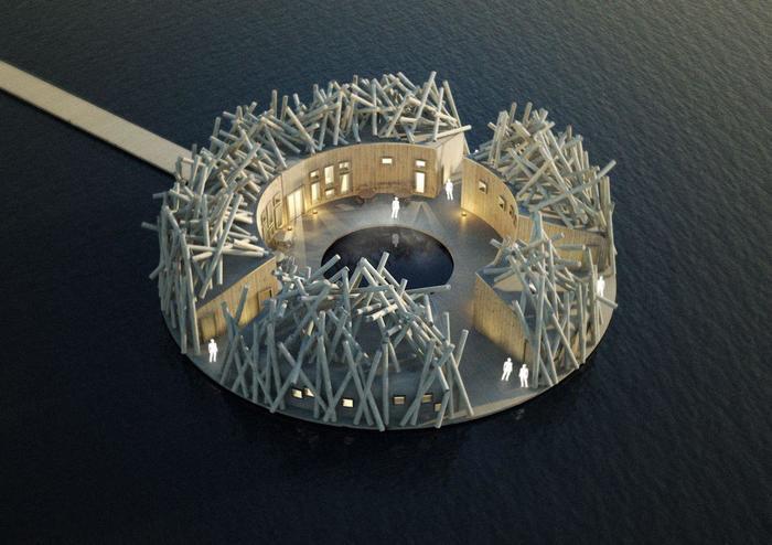 В Швеции откроется плавающий отель в виде гнезда