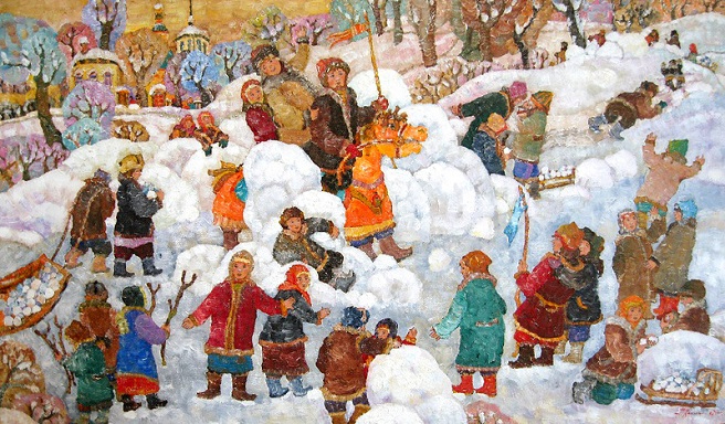 Взятие снежного городка. (656x384, 362Kb)