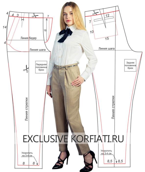 Как сшить красивые брюки женские 88