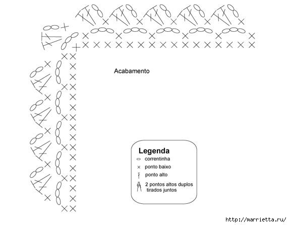 Бирюзовый коврик крючком. Схема (3) (573x447, 69Kb)