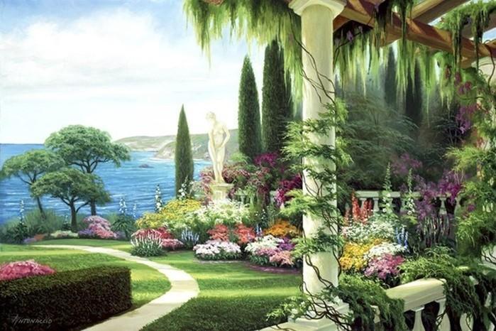 Художник Эгидио Антонассио (Egidio Antonaccio): пейзажи в стиле кинкейда